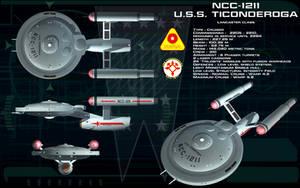 Lancaster class ortho - USS Ticonderoga by unusualsuspex