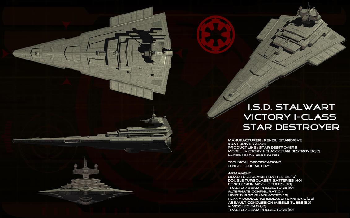 Victory-I Star Destroyer ortho - ISD Stalwart by unusualsuspex