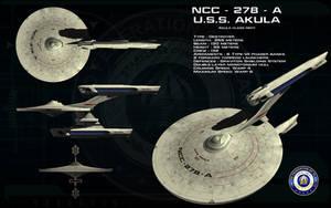 Akula class Refit ortho - USS Akula by unusualsuspex