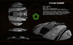 Cylon Raider Mk I ortho by unusualsuspex