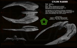 Cylon Raider (New) ortho by unusualsuspex
