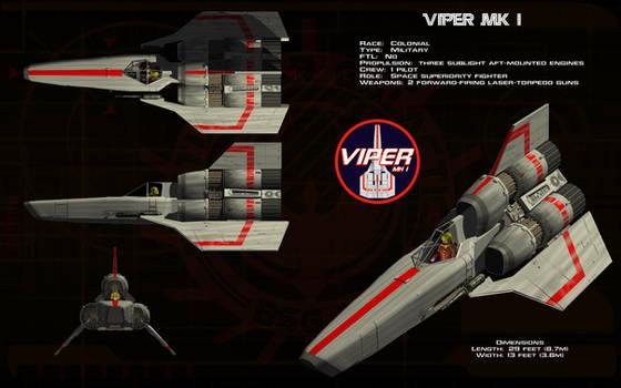 Colonial Viper Mk 1 by unusualsuspex