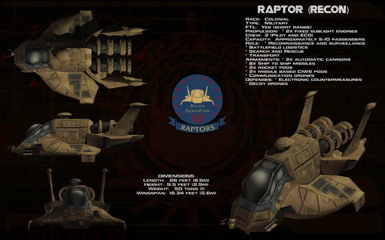 Raptor Recon ortho by unusualsuspex