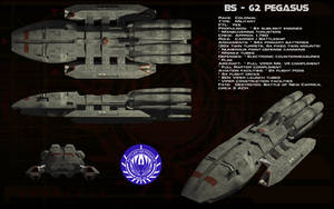BS-62 Battlestar Pegasus ortho by unusualsuspex