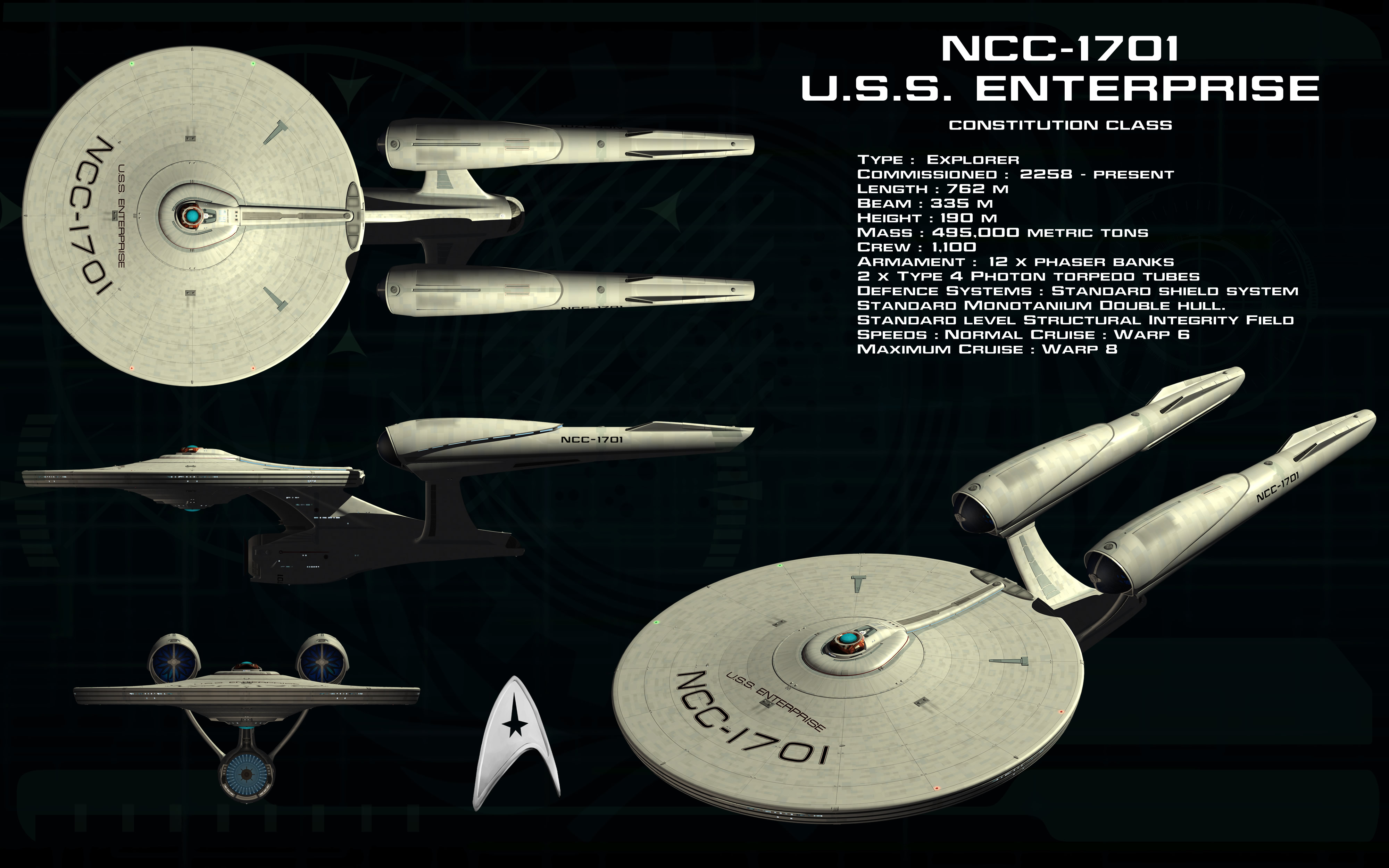 Constitution Class Ortho AU 419131700 on Star Trek Starship Parts