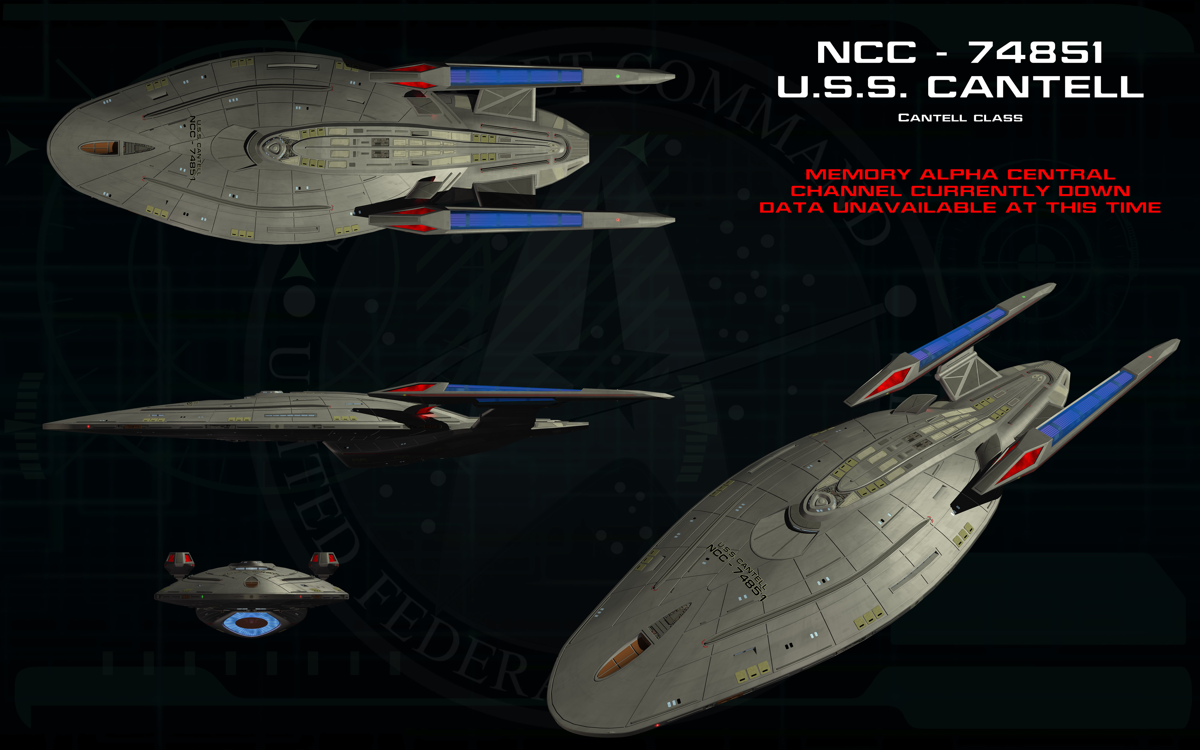 Cantell Class ortho - USS Cantell by unusualsuspex