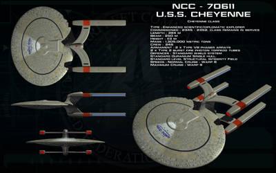Cheyenne Class ortho - USS Cheyenne by unusualsuspex