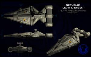 Republic Arquitens Light Cruiser ortho by unusualsuspex