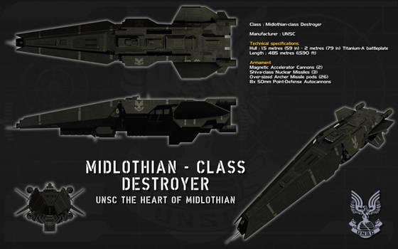 Midlothian class destroyer ortho