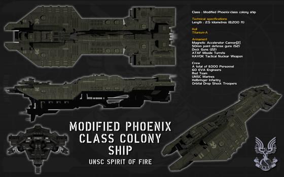 Modified Phoenix Class Colony ship ortho