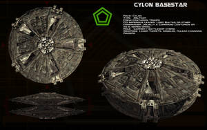 Cylon Basestar (old) ortho by unusualsuspex