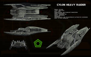 Cylon Heavy Raider ortho by unusualsuspex