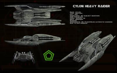 Cylon Heavy Raider ortho by unusualsuspex