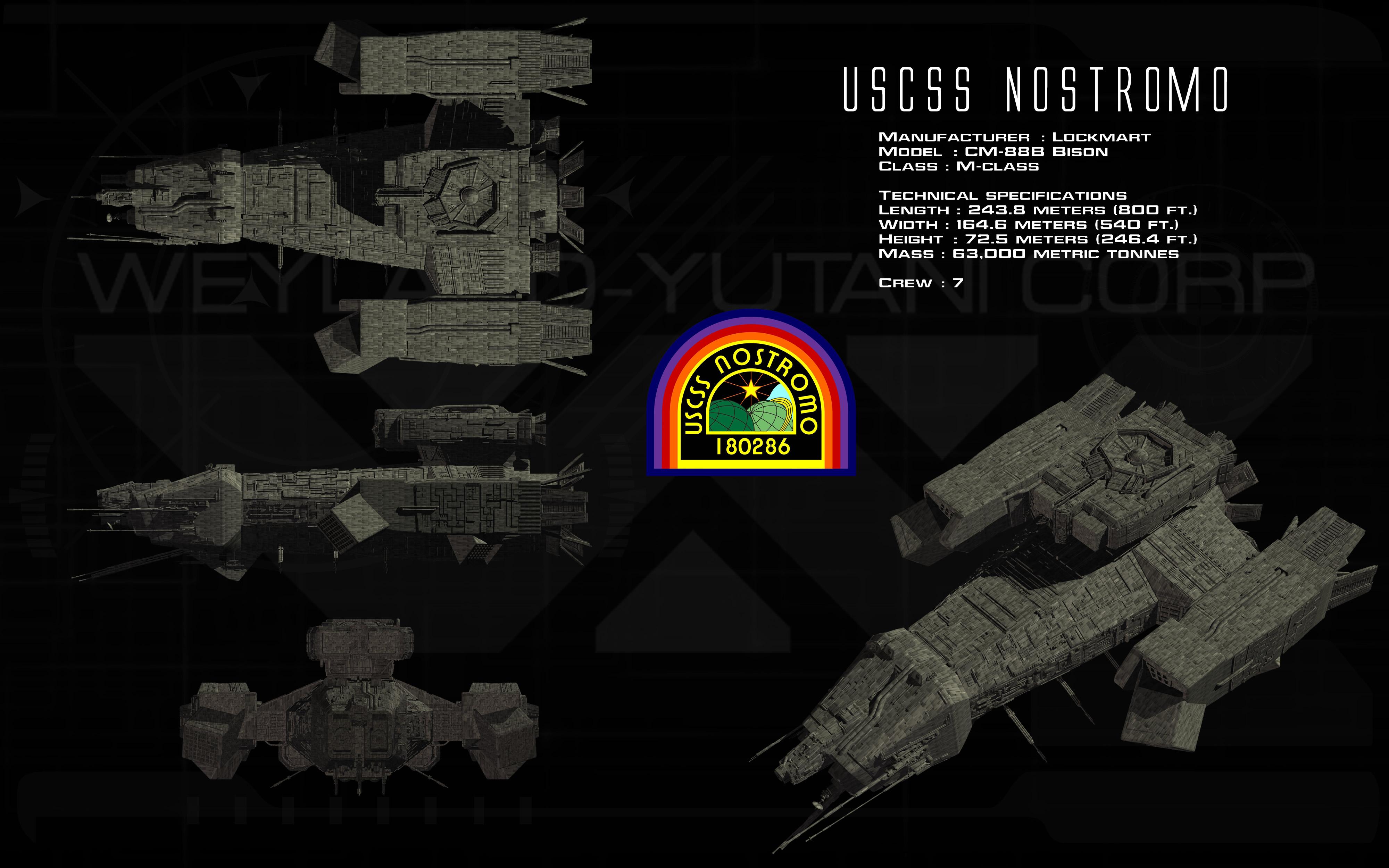 Uscss Nostromo Ortho Unusualsuspex Prometheus Logo Alien