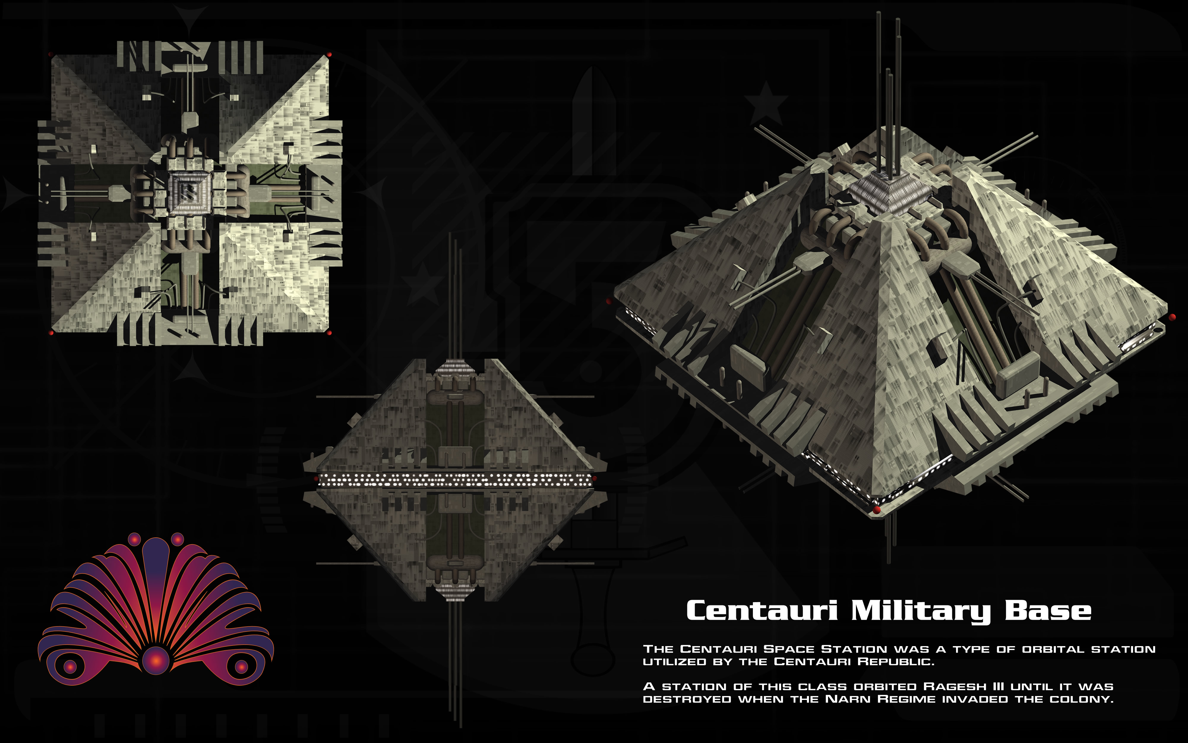Centauri Military Base ortho by unusualsuspex