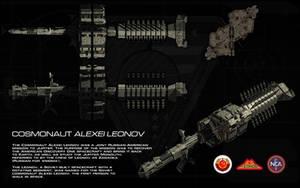 CCCP Cosmonaut Alexei Leonov ortho by unusualsuspex