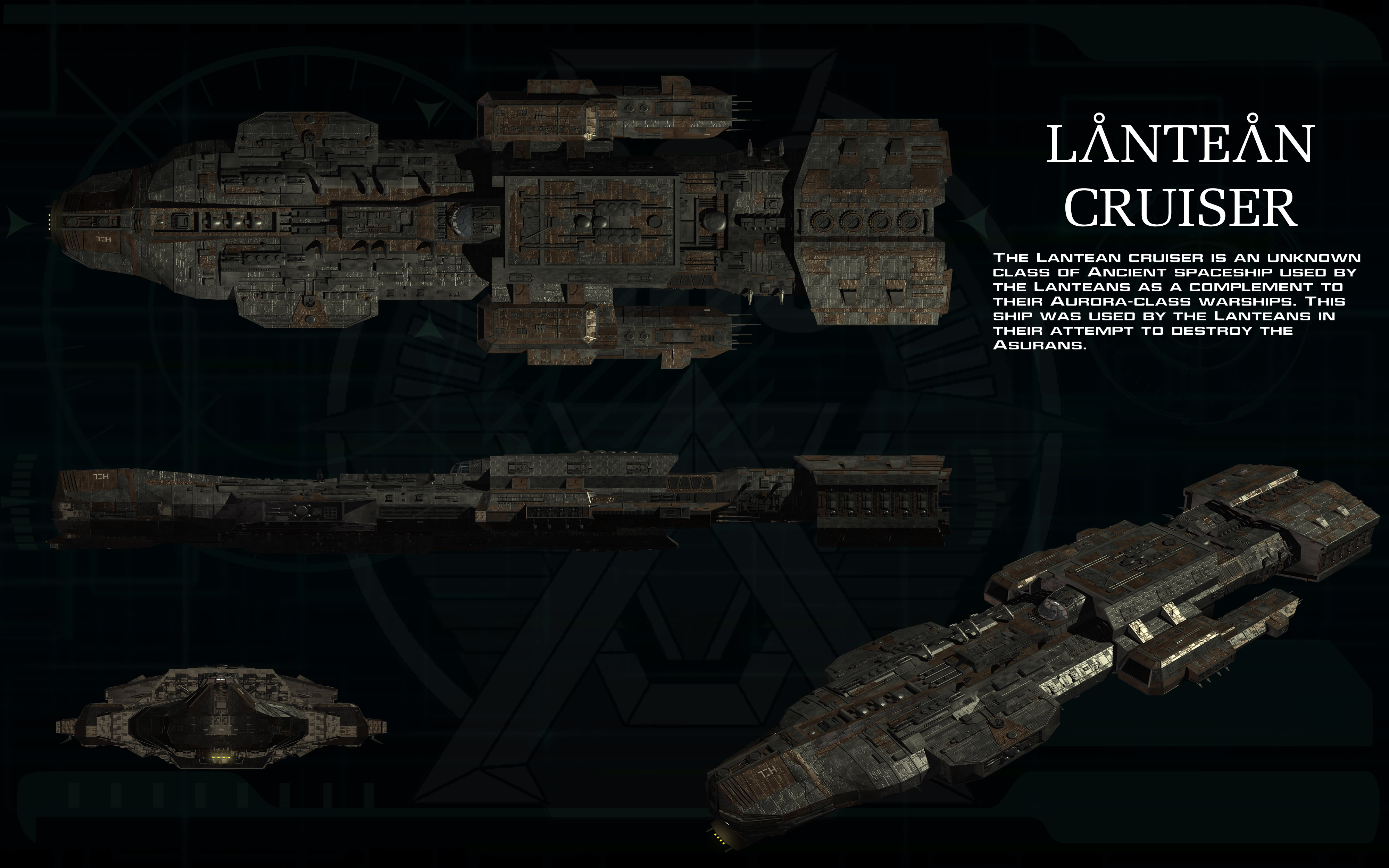 Lantean Cruiser ortho by unusualsuspex