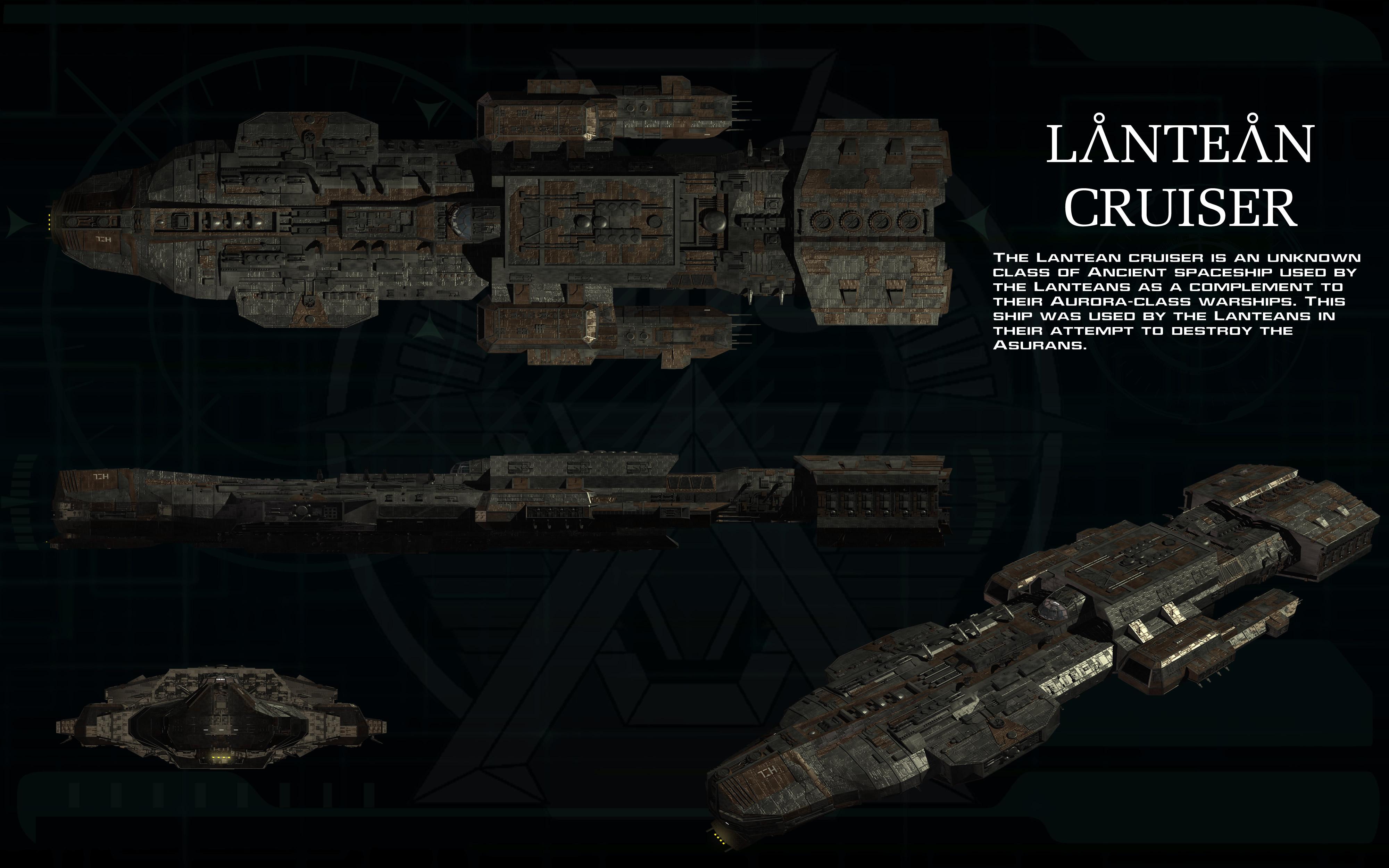 Lantean Cruiser ortho by unusualsuspex