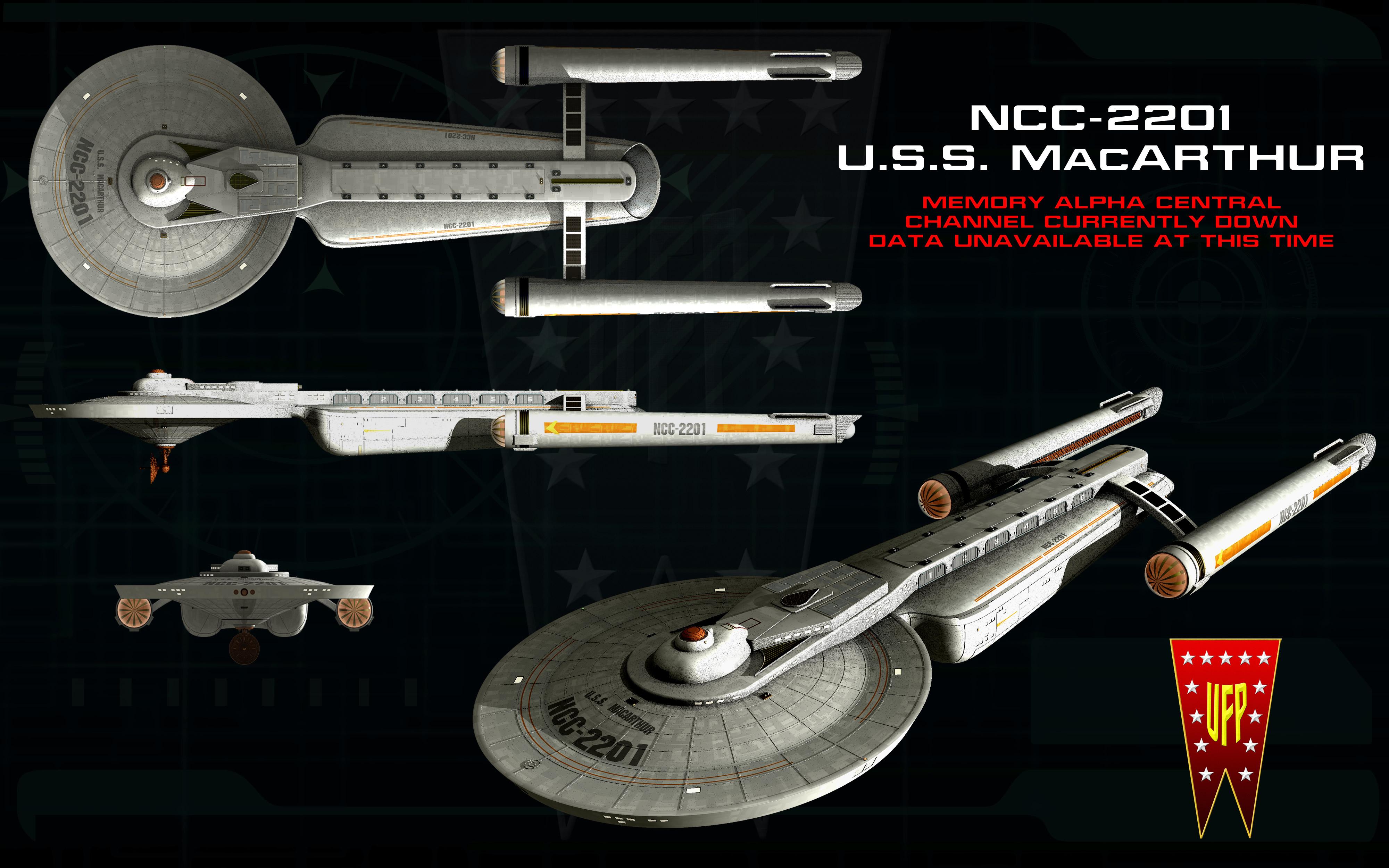 USS MacARTHUR ortho by unusualsuspex