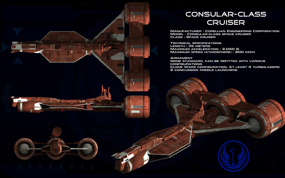 Consular Class Cruiser ortho [update] by unusualsuspex