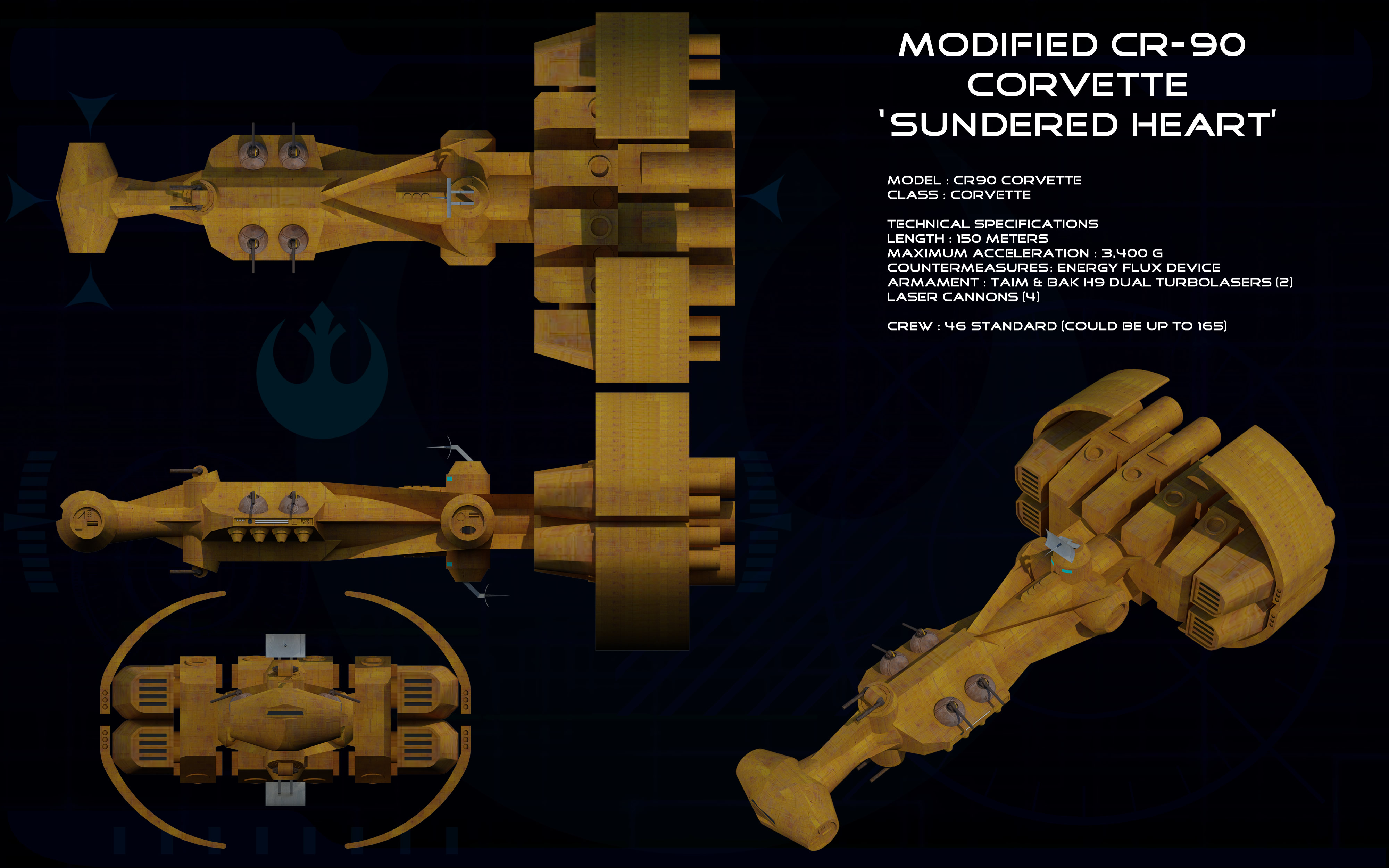 Sundered Heart Modified Cr 90 Corvette Ortho By Unusualsuspex On Deviantart