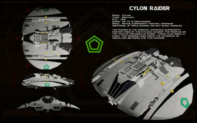 Cylon Raider Mk I ortho [update] by unusualsuspex