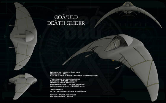 Goa'uld Death Glider ortho