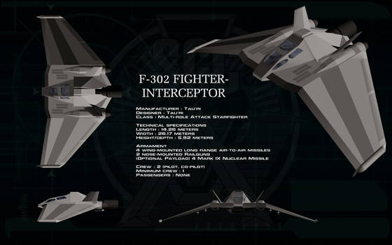 Tau'ri F-302 Fighter Interceptor ortho