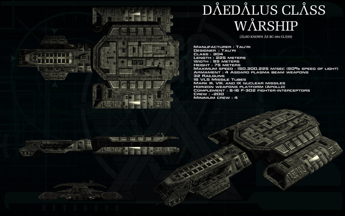 Daedalus class warship ortho by unusualsuspex