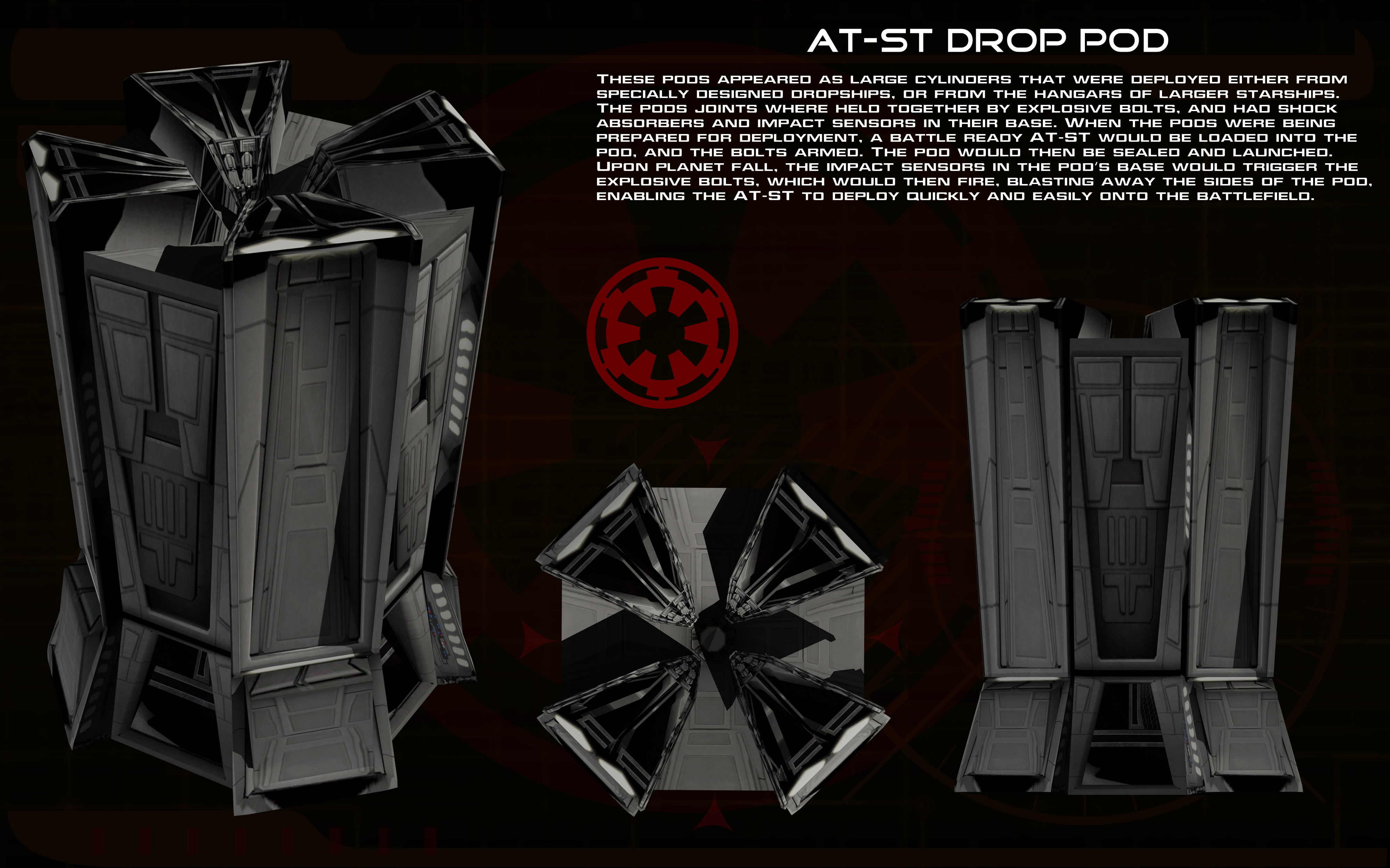 AT-ST Drop Pod ortho by unusualsuspex