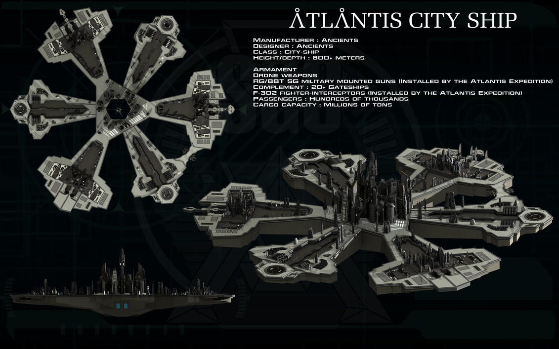 Atlantis city ship ortho by unusualsuspex