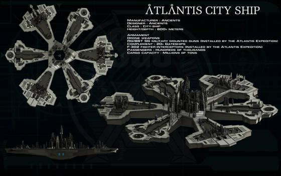 Atlantis city ship ortho by unusualsuspex