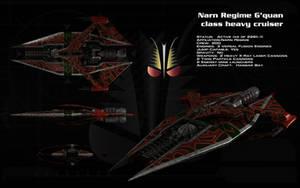 Narn G'Quan class heavy cruiser ortho by unusualsuspex
