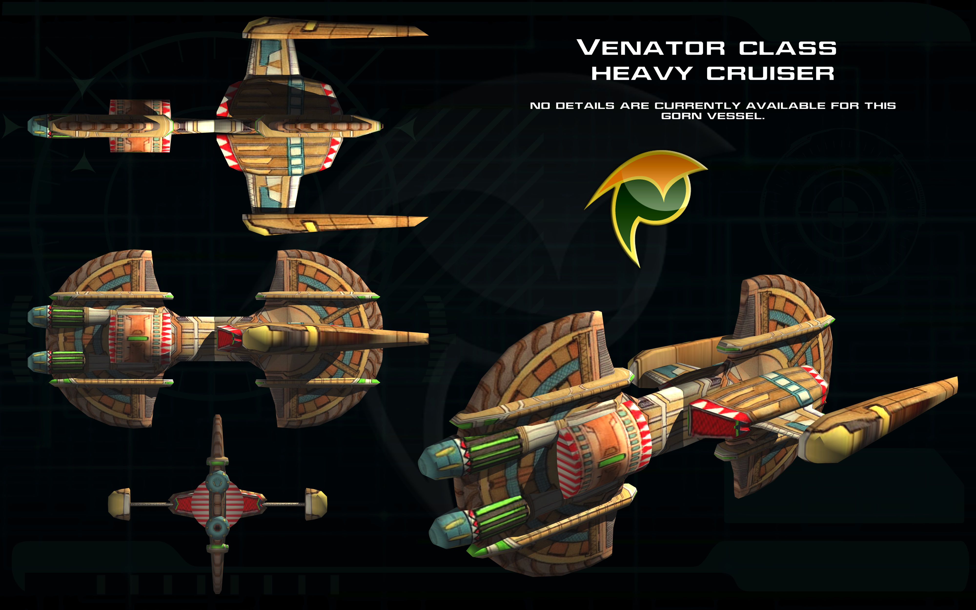 Gorn Venator class ortho by unusualsuspex