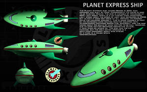Planet Express Ship ortho by unusualsuspex