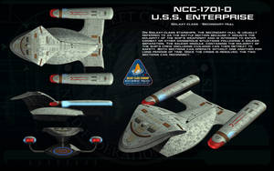 Galaxy class secondary hull ortho by unusualsuspex