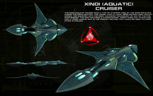 Xindi Aquatic cruiser ortho by unusualsuspex