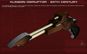 Klingon Disruptor [24th Century] Tech Readout by unusualsuspex