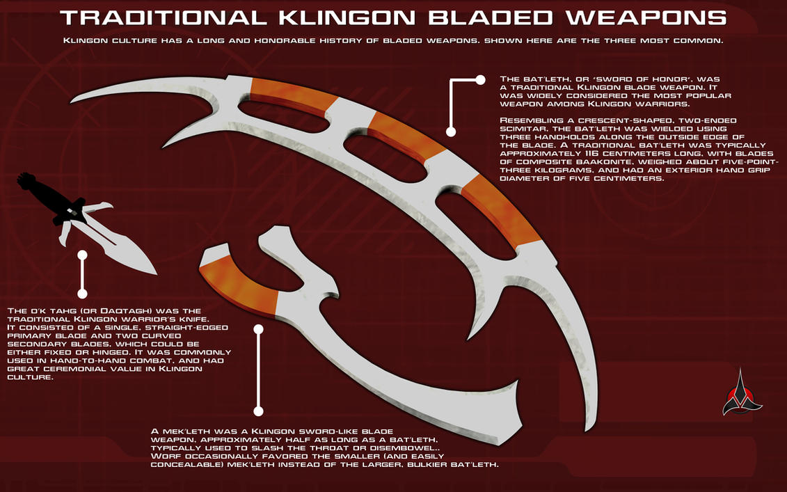 Klingon Bladed Weapons Tech Readout by unusualsuspex on ...