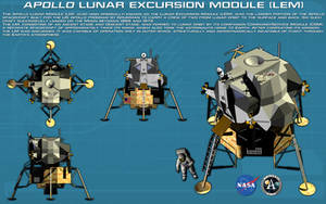 Apollo LEM ortho [new] by unusualsuspex