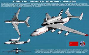 Shuttle Buran + Antonov 225 Mriya ortho [updated] by unusualsuspex