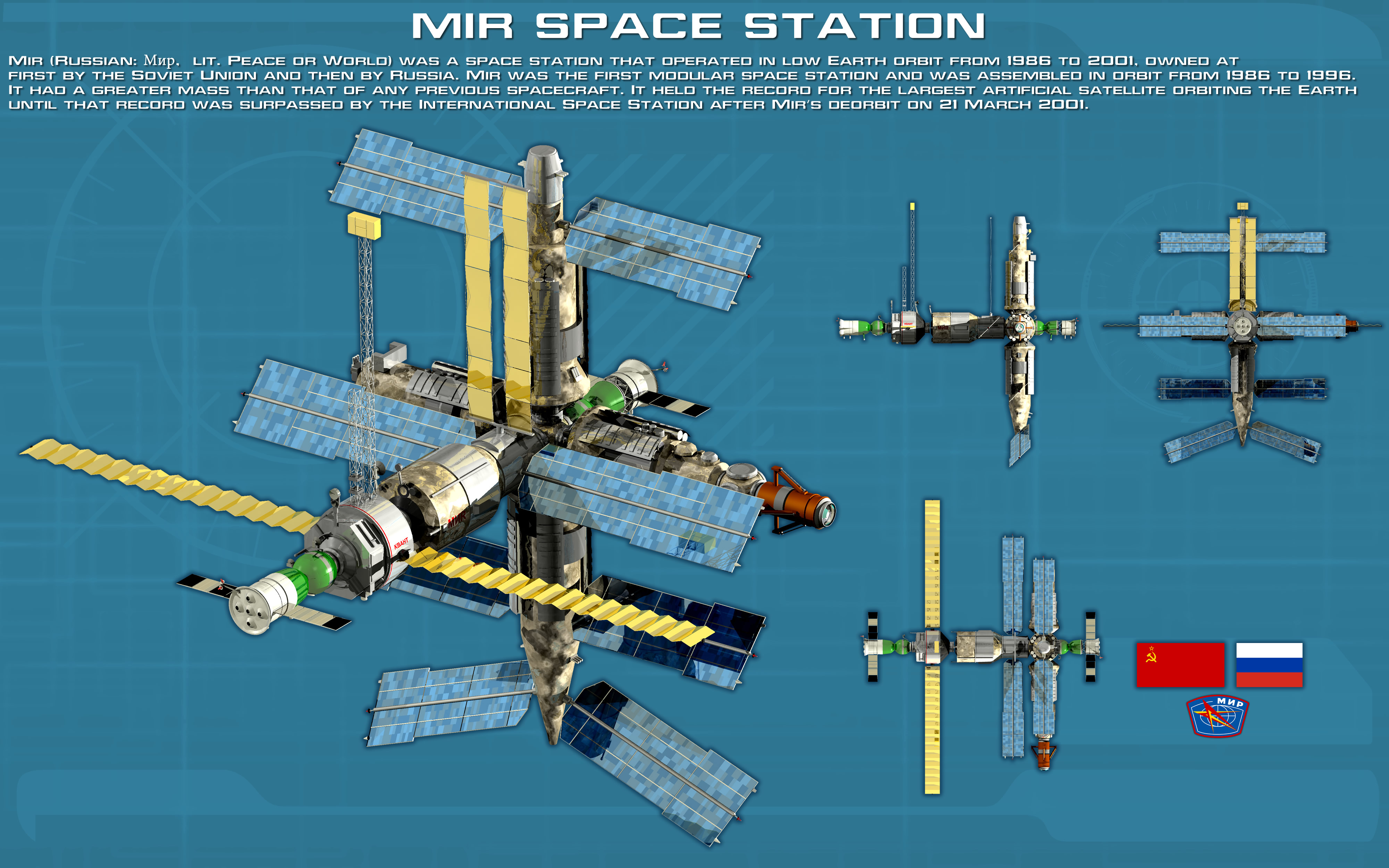 Soviet Russian Space Station Mir Ortho New By Unusualsuspex On