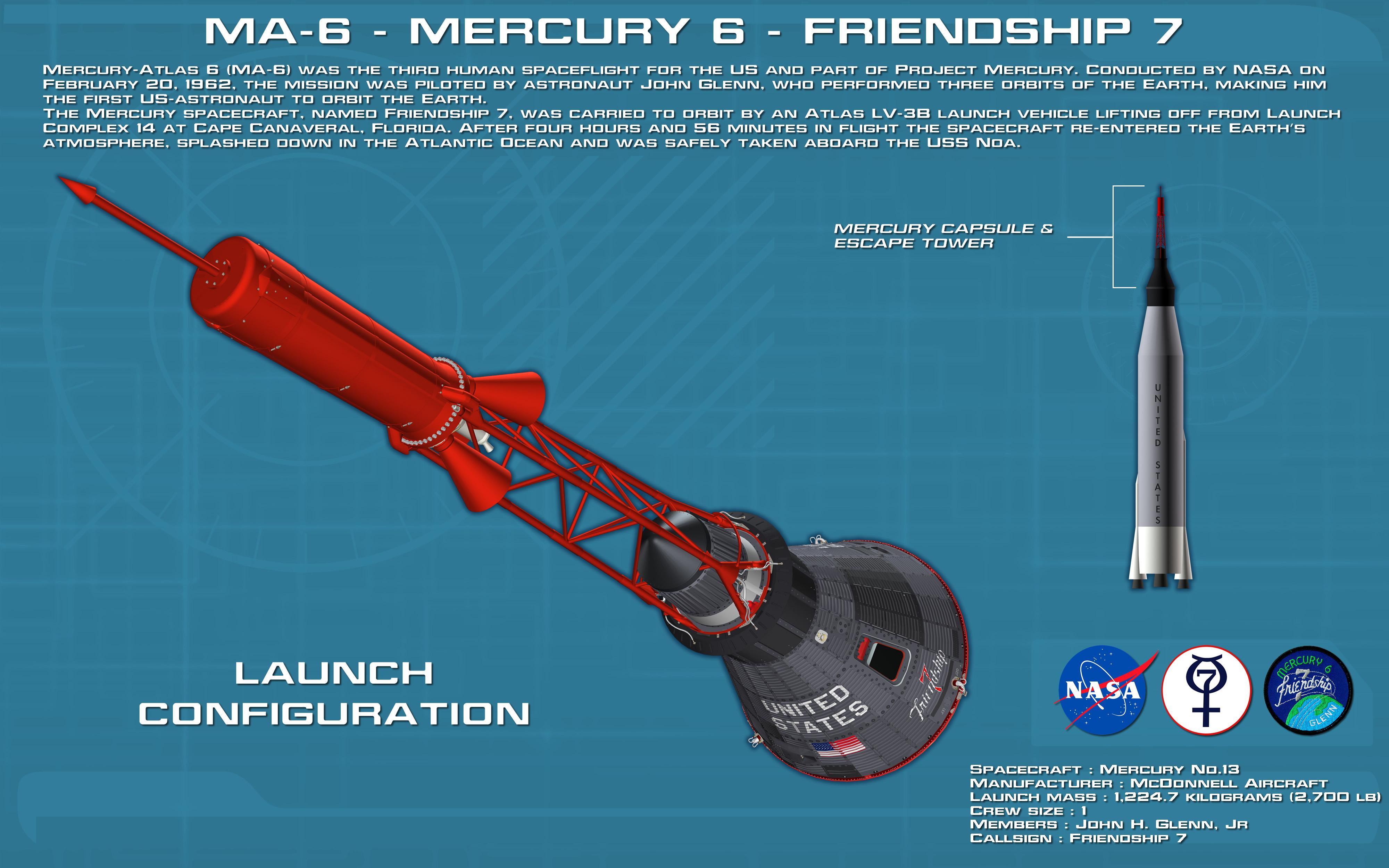 friendship 7 spacecraft take off - photo #29
