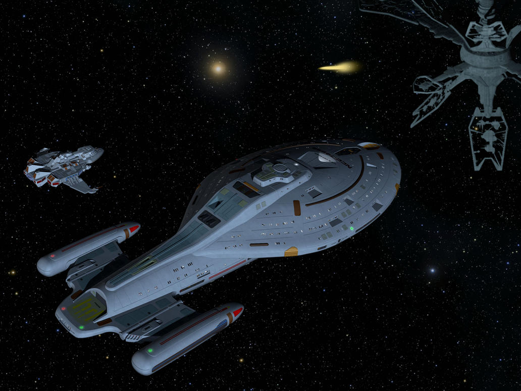 Starships in Action 10 - Intrepid class by unusualsuspex