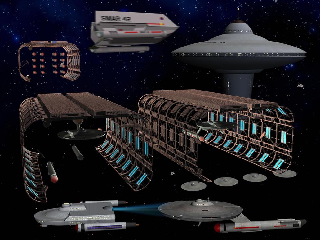 Starfleet Maintenance and Refurbishment Yards by unusualsuspex