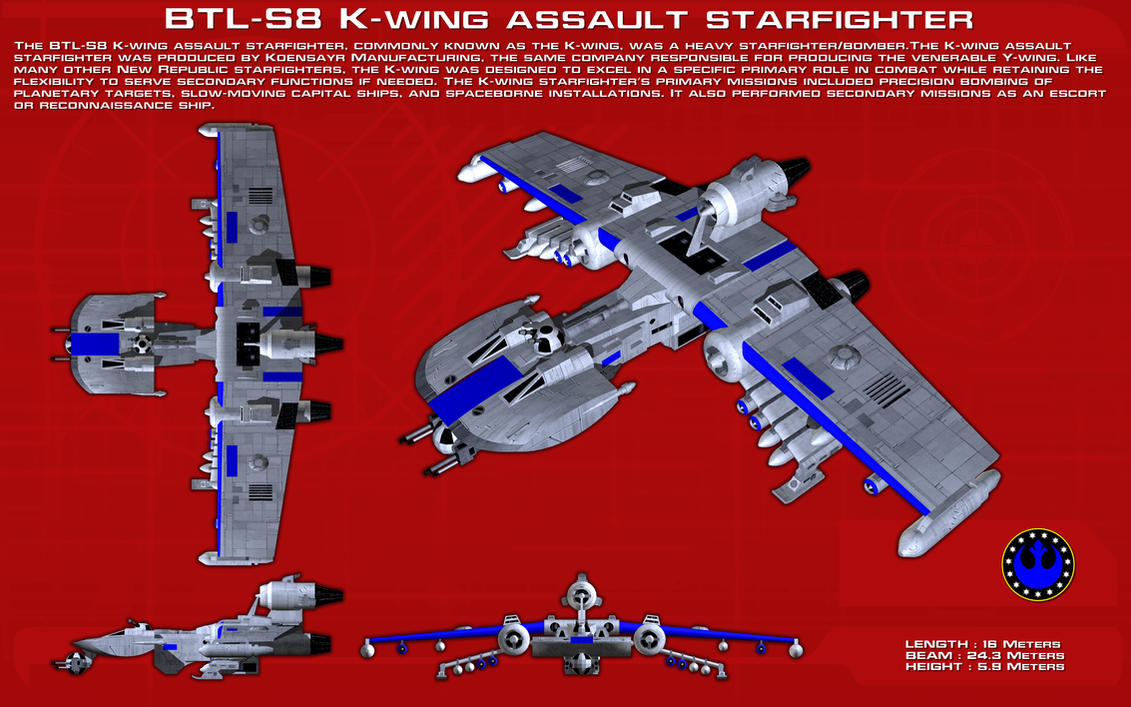 K-Wing assault starfighter ortho [New] by unusualsuspex