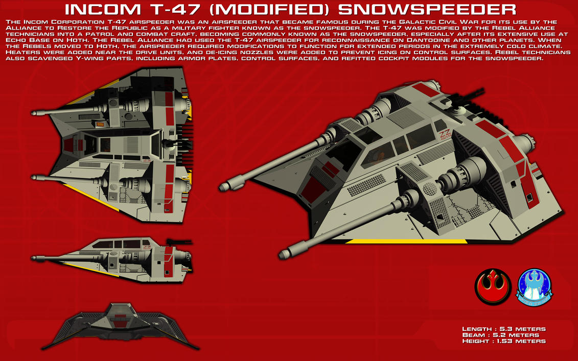 Incom T47 (Modified) Snowspeeder ortho [New] by unusualsuspex