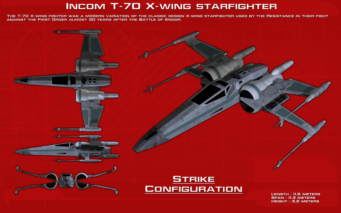 T 70 X Wing Starfighter Ortho New By Unusualsuspex On