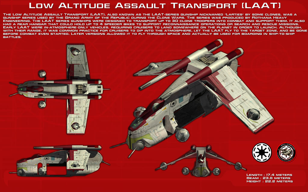 Low Altitude Assault Transport ortho [LAAT][New] by unusualsuspex