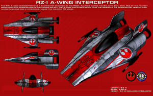 RZ-1 A-Wing Interceptor ortho [2] [New] by unusualsuspex